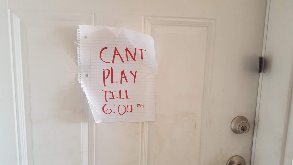 Good to know, I wanted to play right then, but I have to wait till 6. A great sign I found while passing out cards.