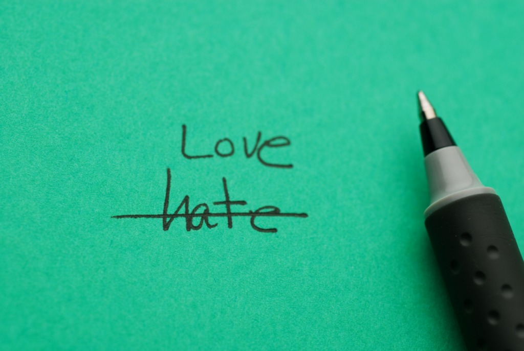 lets ditch the hate and lead with love. That's how to live to the fullest.